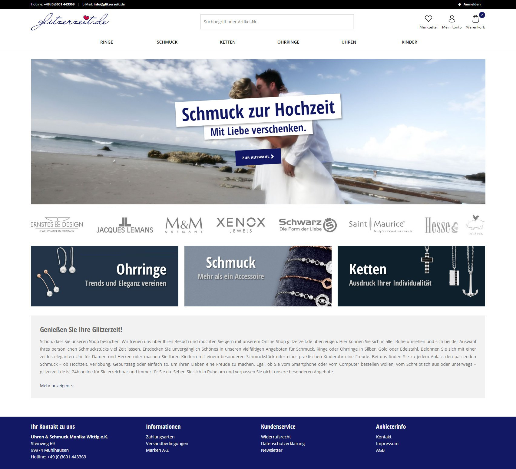 Screenshot glitzerzeit.de